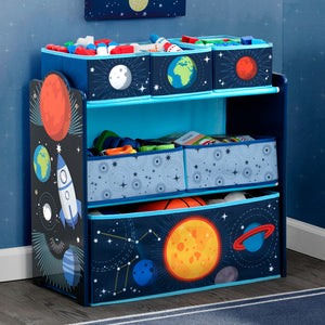 Delta Children Space Adventures (1223) Design and Store Toy Organizer, Hangtag View