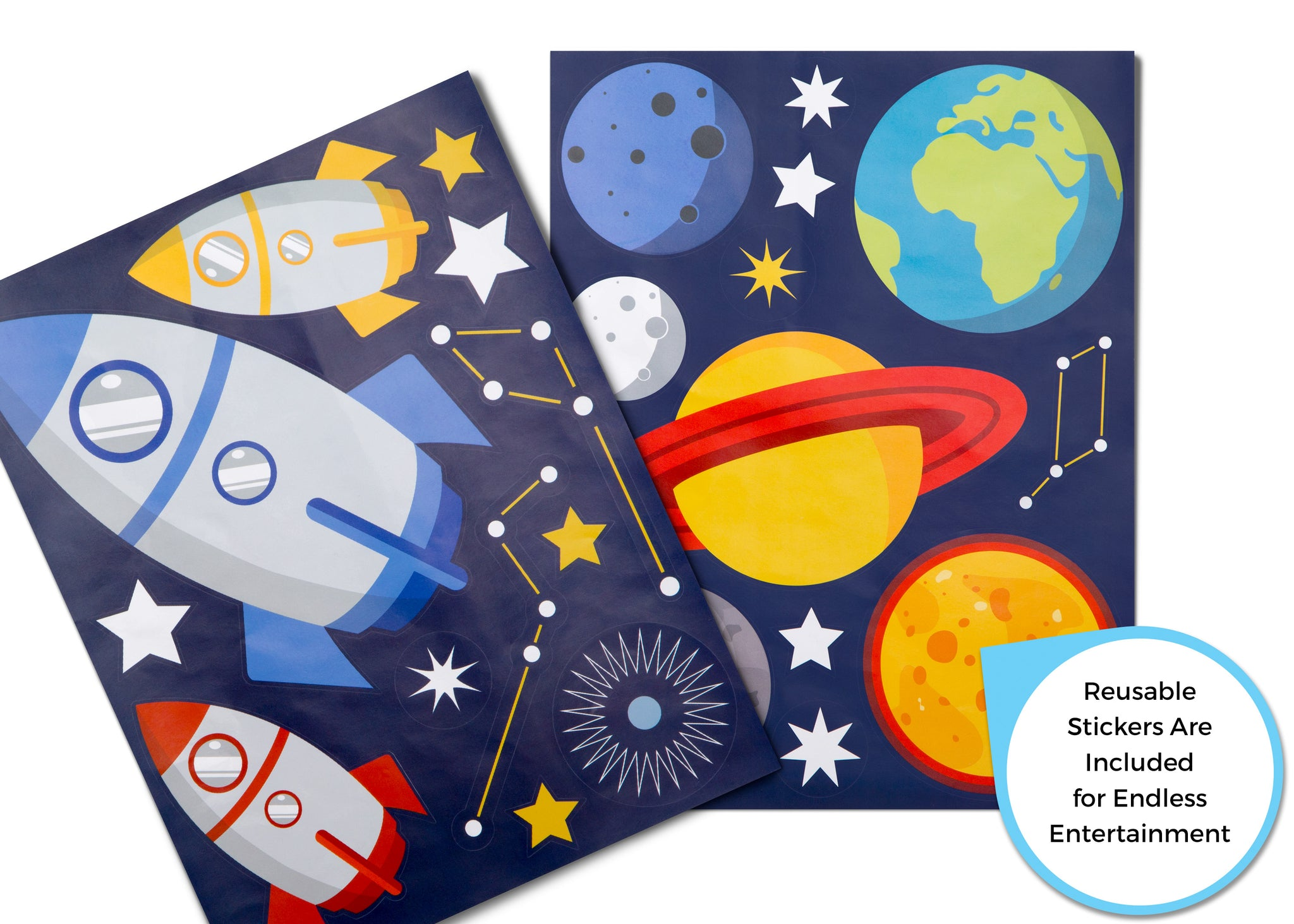 Delta Children Space Adventures (1223) Design and Store Toy Organizer, Stickers Details View