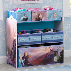 Delta Children Frozen II Multi-Bin Toy Organizer, Hangtag View