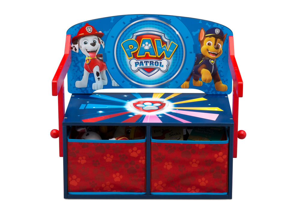 Delta Children PAW Patrol Activity Bench, Front Bench Silo View