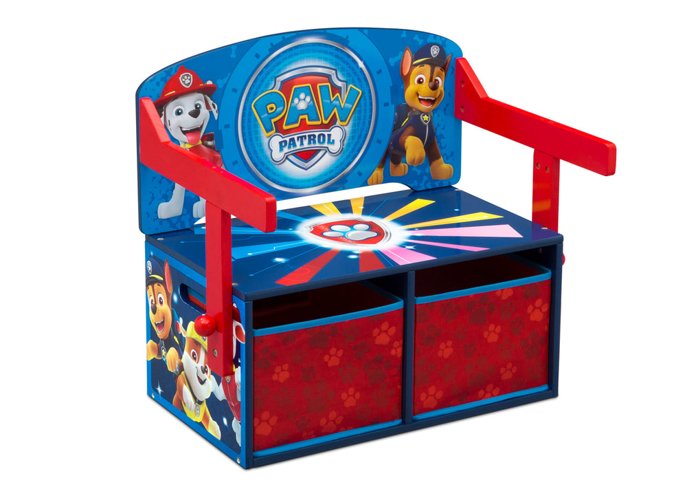 Delta Children PAW Patrol Activity Bench, Right Bench Silo View