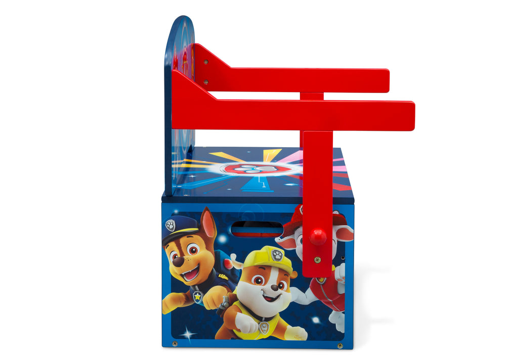 Delta Children PAW Patrol Activity Bench, Right Side Bench Silo View