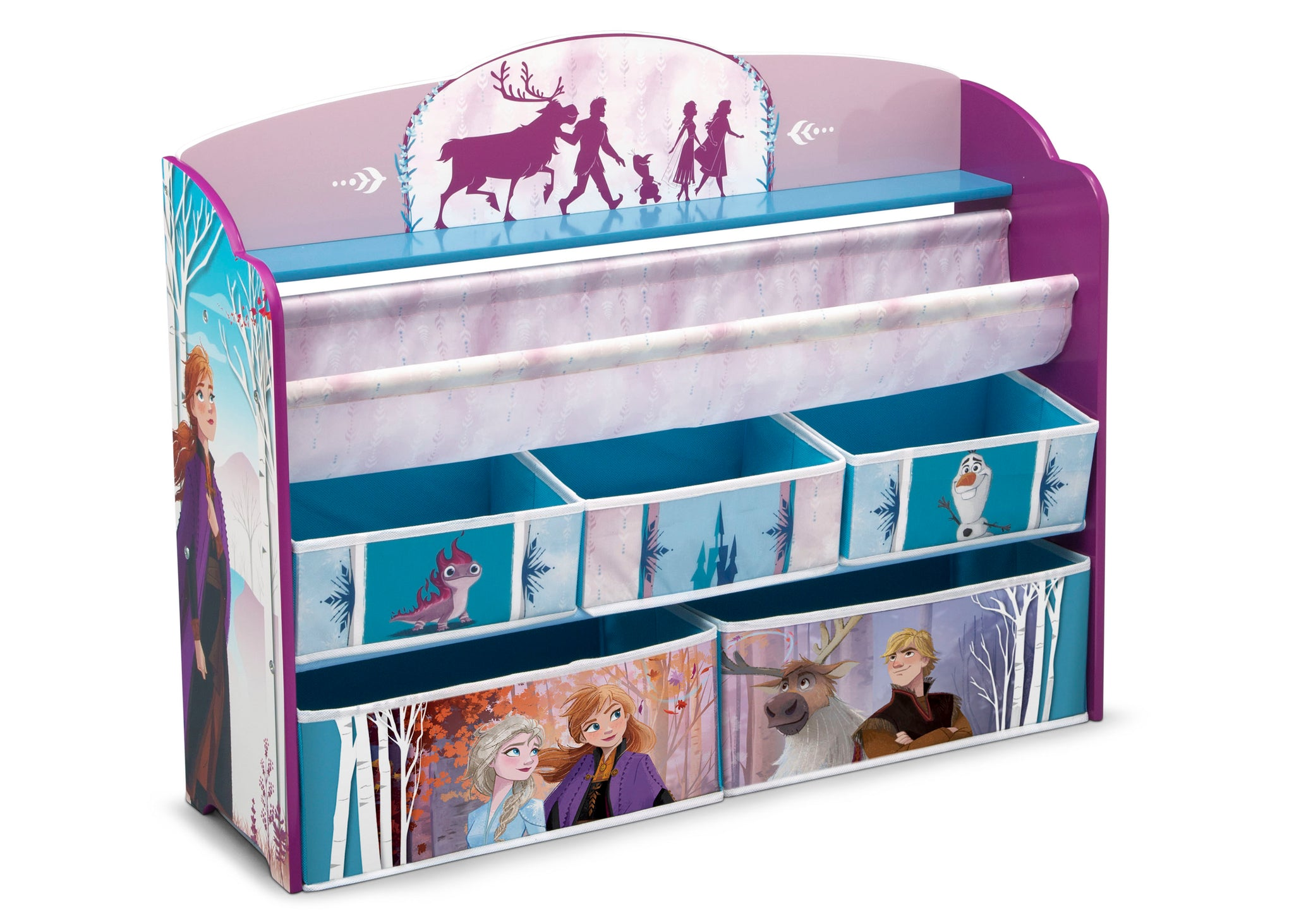Delta Children Frozen 2 (1097) Deluxe Toy and Book Organizer, Right Silo View