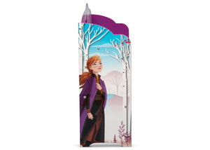 Delta Children Frozen 2 (1097) Deluxe Toy and Book Organizer, Anna Side View
