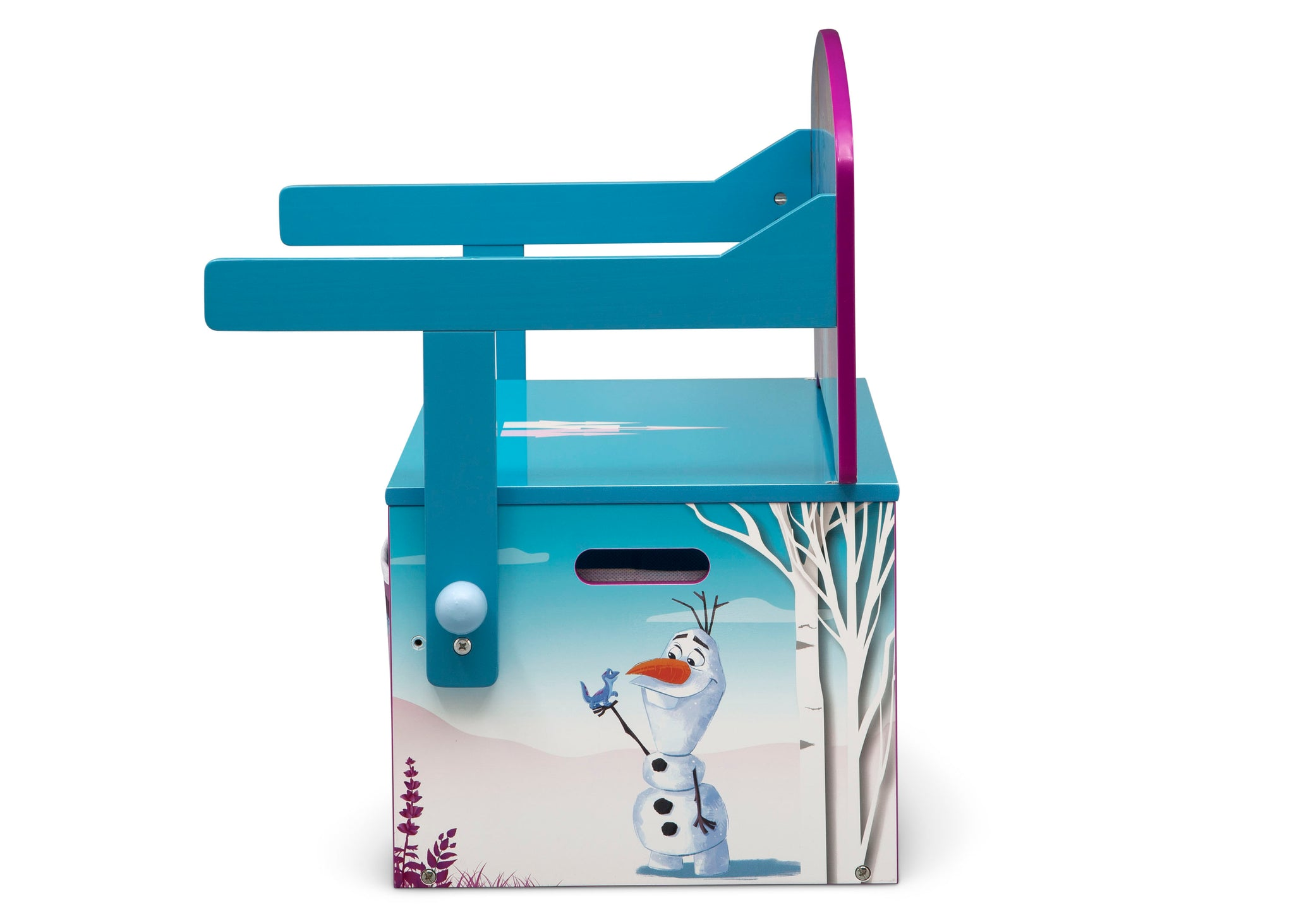 Delta Children Frozen 2 (1097) Convertible Activity Bench, Olaf Side Silo View