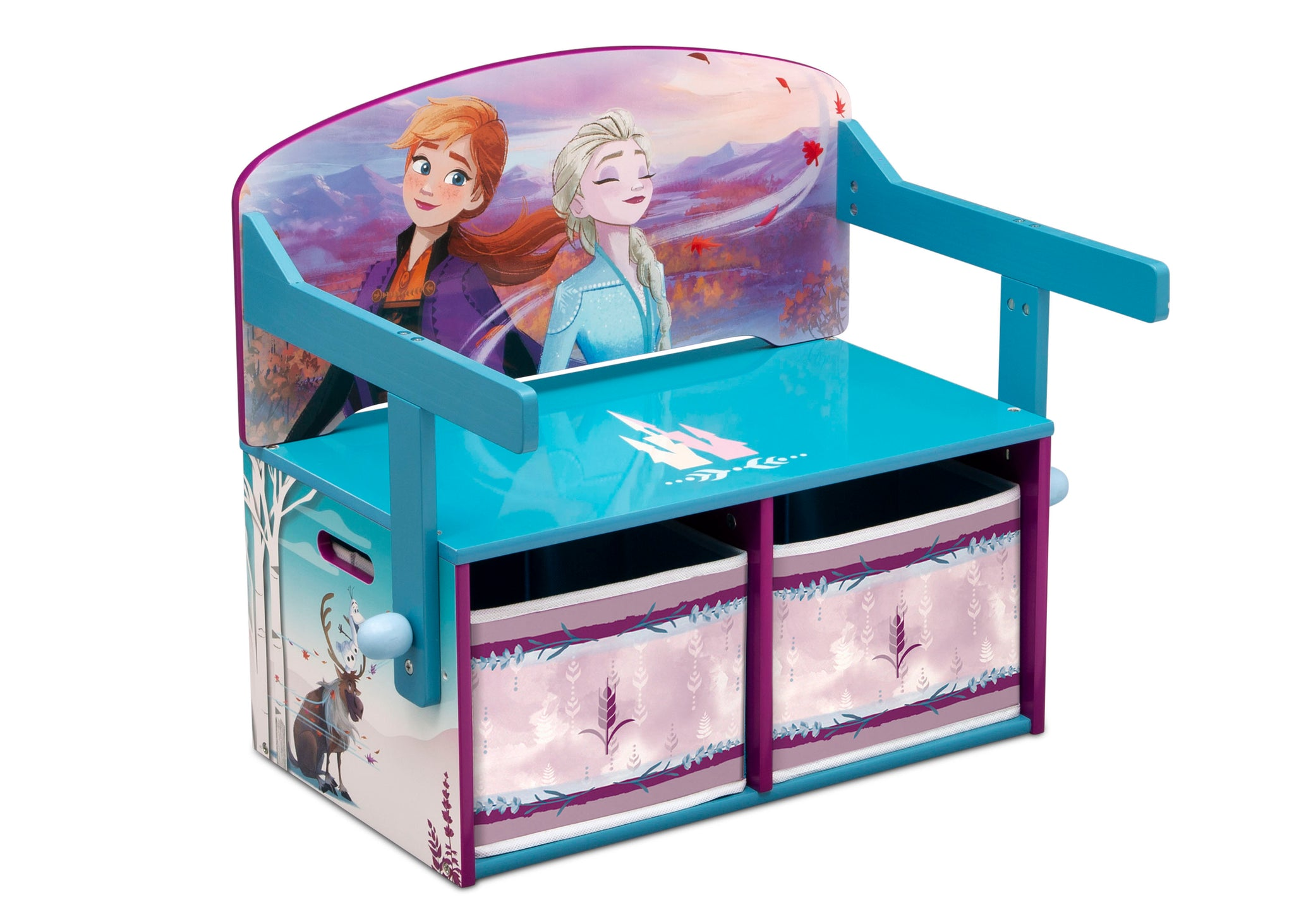 Delta Children Frozen 2 (1097) Convertible Activity Bench, Right Silo Bench View