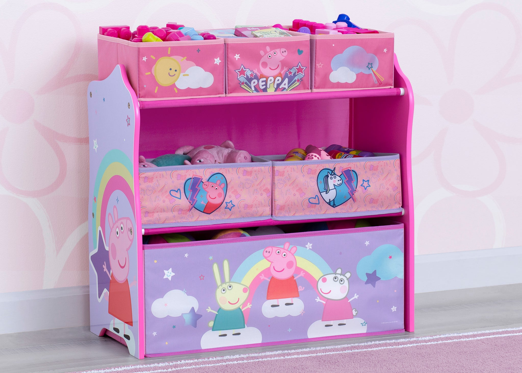 Peppa Pig 6 Bin Design and Store Toy Organizer