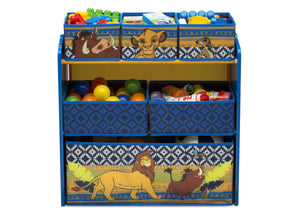 Delta Children The Lion King (1079) 6-Bin Design & Store Toy Storage Organizer, Front Silo View