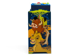 Delta Children The Lion King (1079) 6-Bin Design & Store Toy Storage Organizer, Right Side Silo View