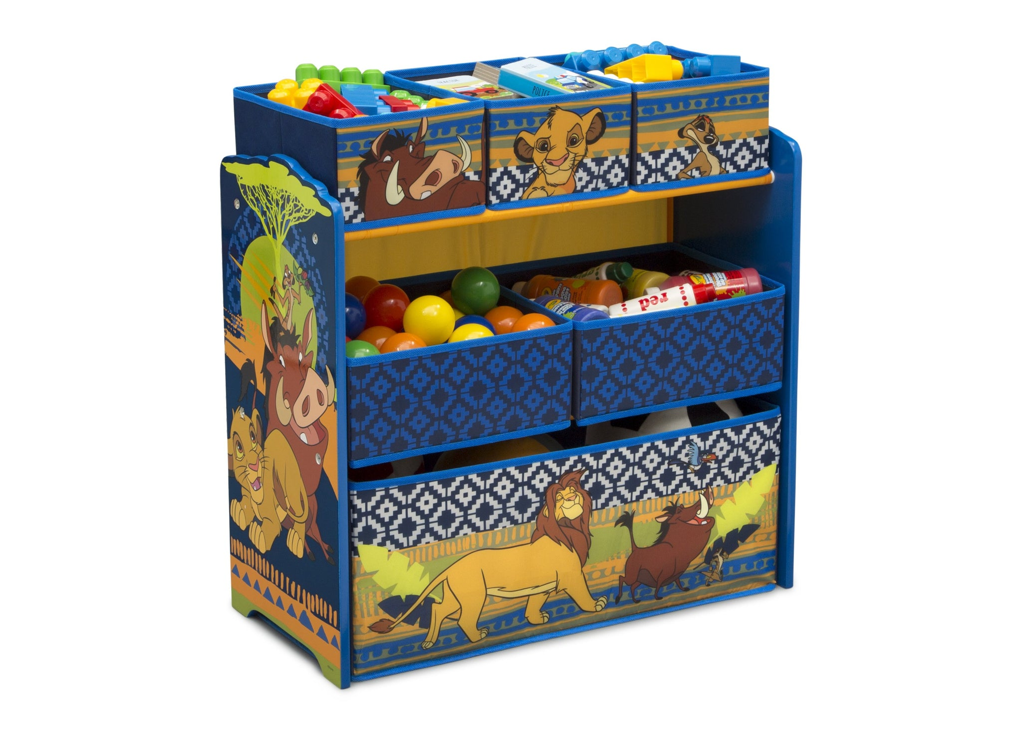 Delta Children The Lion King (1079) 6-Bin Design & Store Toy Storage Organizer, Right Silo View