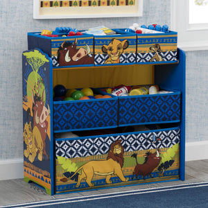 Delta Children The Lion King (1079) 6-Bin Design & Store Toy Storage Organizer, Hangtag View