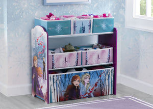 Delta Children Frozen 2 (1097) Design and Store 6 Bin Toy Organizer, Hangtag View