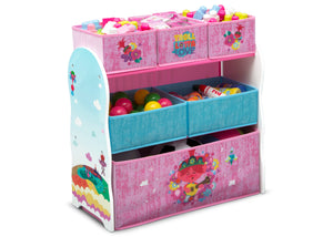 Delta Children Trolls World Tour (1177) Design and Store 6 Bin Toy Organizer, Right Silo View