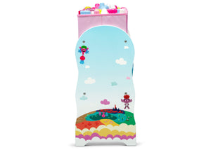 Delta Children Trolls World Tour (1177) Design and Store 6 Bin Toy Organizer, Side Silo View