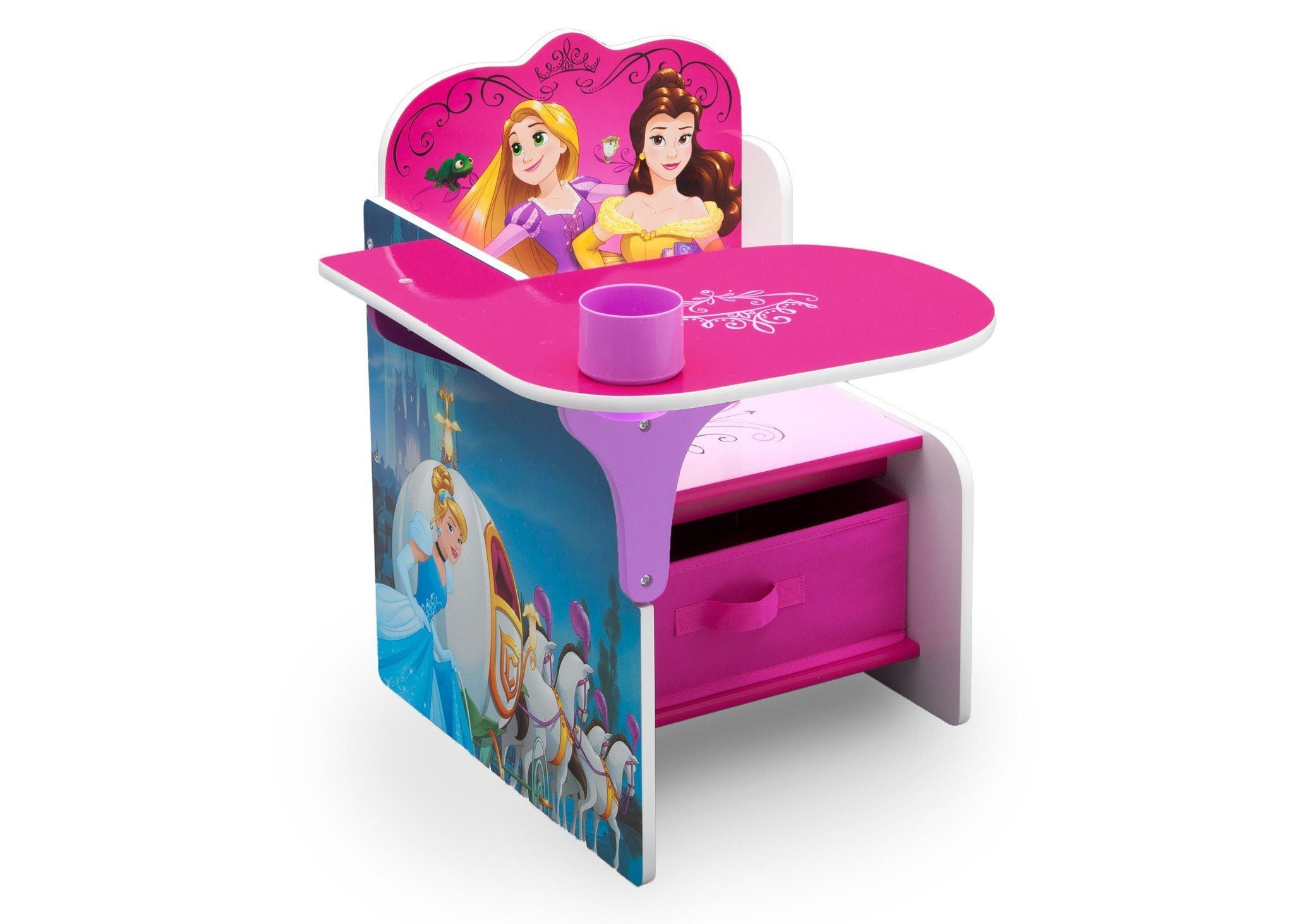 Delta Children Princess Chair Desk With Storage Bin Style 1, Right View A1a  ...