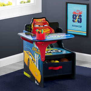 Cars Chair Desk with Storage Bin