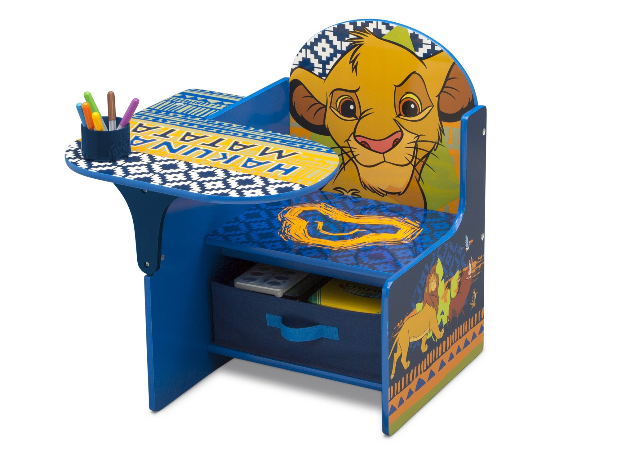 Delta Children The Lion King (1079) Chair Desk With Storage Bin, Left Silo View