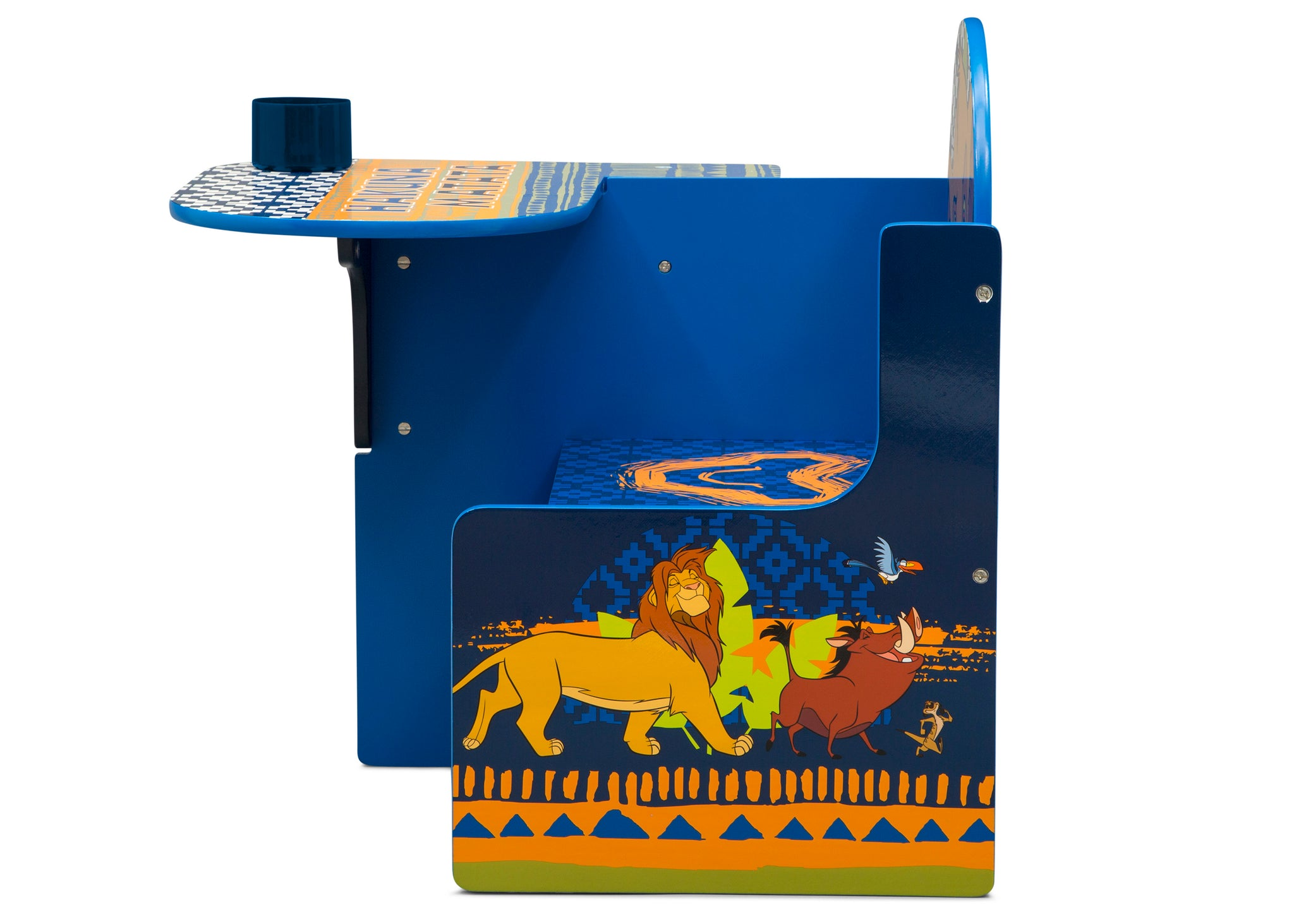 Delta Children The Lion King (1079) Chair Desk With Storage Bin, Left Side Silo View