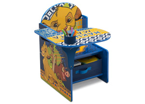 Delta Children The Lion King (1079) Chair Desk With Storage Bin, Right Silo View