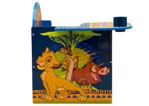 Delta Children The Lion King (1079) Chair Desk With Storage Bin, Right Side Silo View