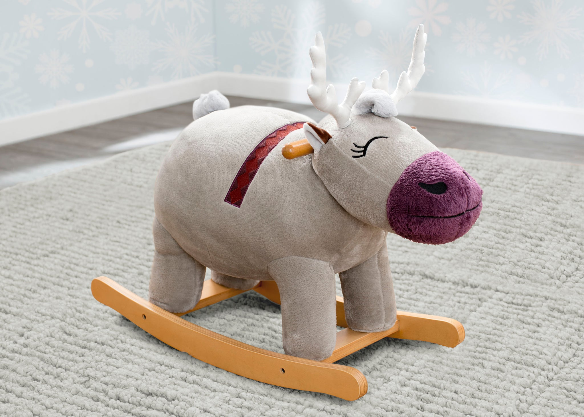Delta Children Frozen II Sven Plush Rocker, Right Silo View Frozen(1098)