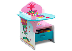 Delta Children Trolls World Tour (1177) Chair Desk with Storage Bin, Right Silo View