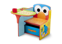 Delta Children Sesame Street Chair Desk with Storage Bin Left Side View a2a