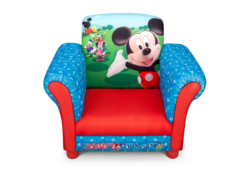 Delta Children Mickey Mouse Upholstered Chair-EU+US, Front View Style-1