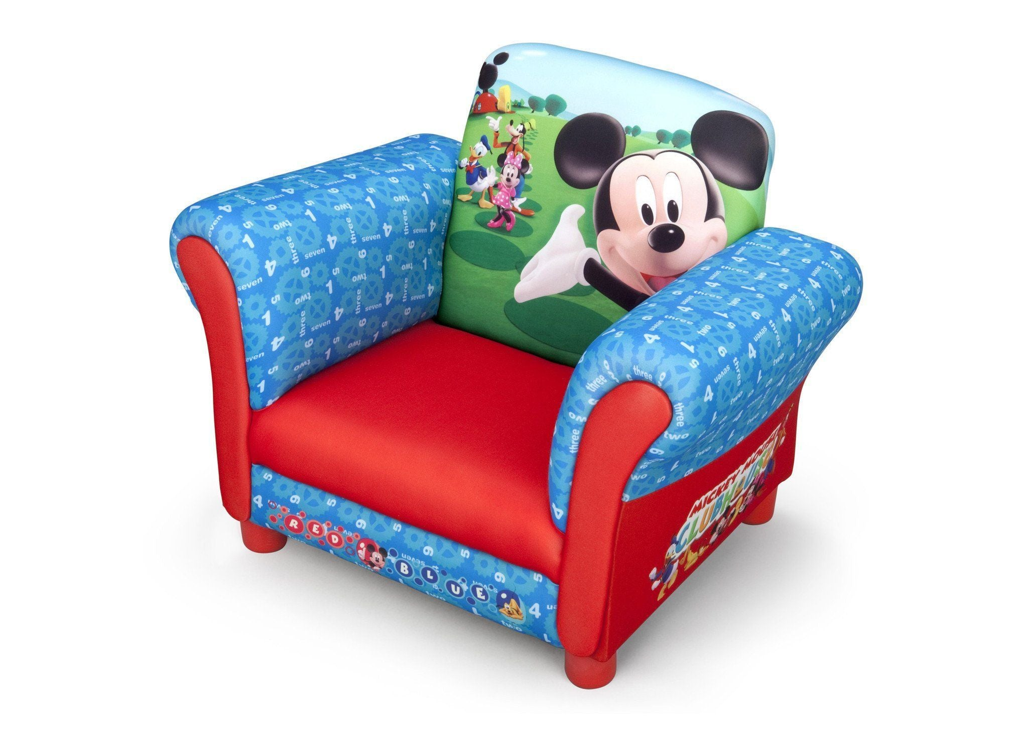 ... Delta Children Mickey Mouse Upholstered Chair EU+US, Left View Style 1