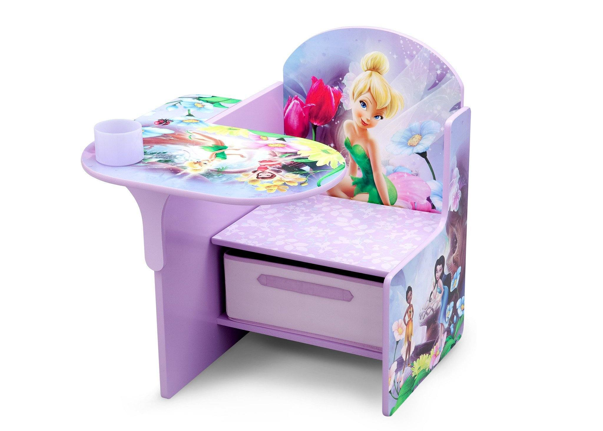 Delta Children Style 1 Fairies Chair Desk with Storage Bin, Left View