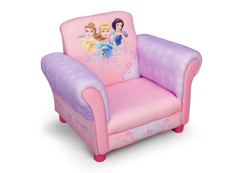 Beau Princess Upholstered Chair Delta Children Right View A1a
