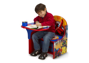 Delta Children Spider-Man Chair Desk with Storage Bin, Right View with Model a3a Style-1 (999)