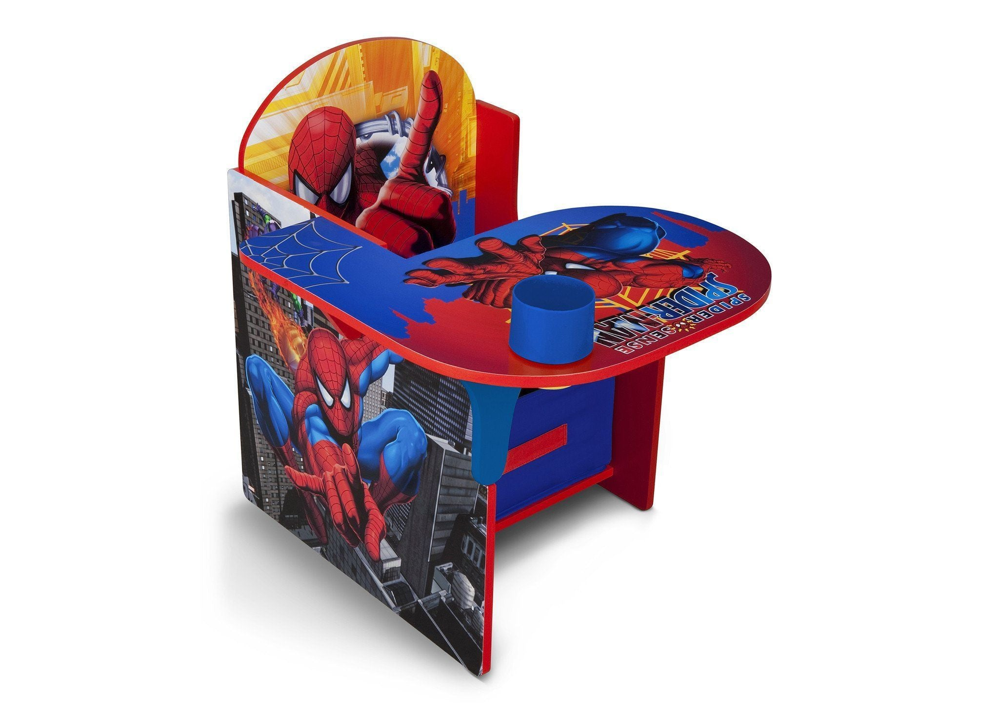 Delta Children Spider-Man Chair Desk with Storage Bin, Right View a1a