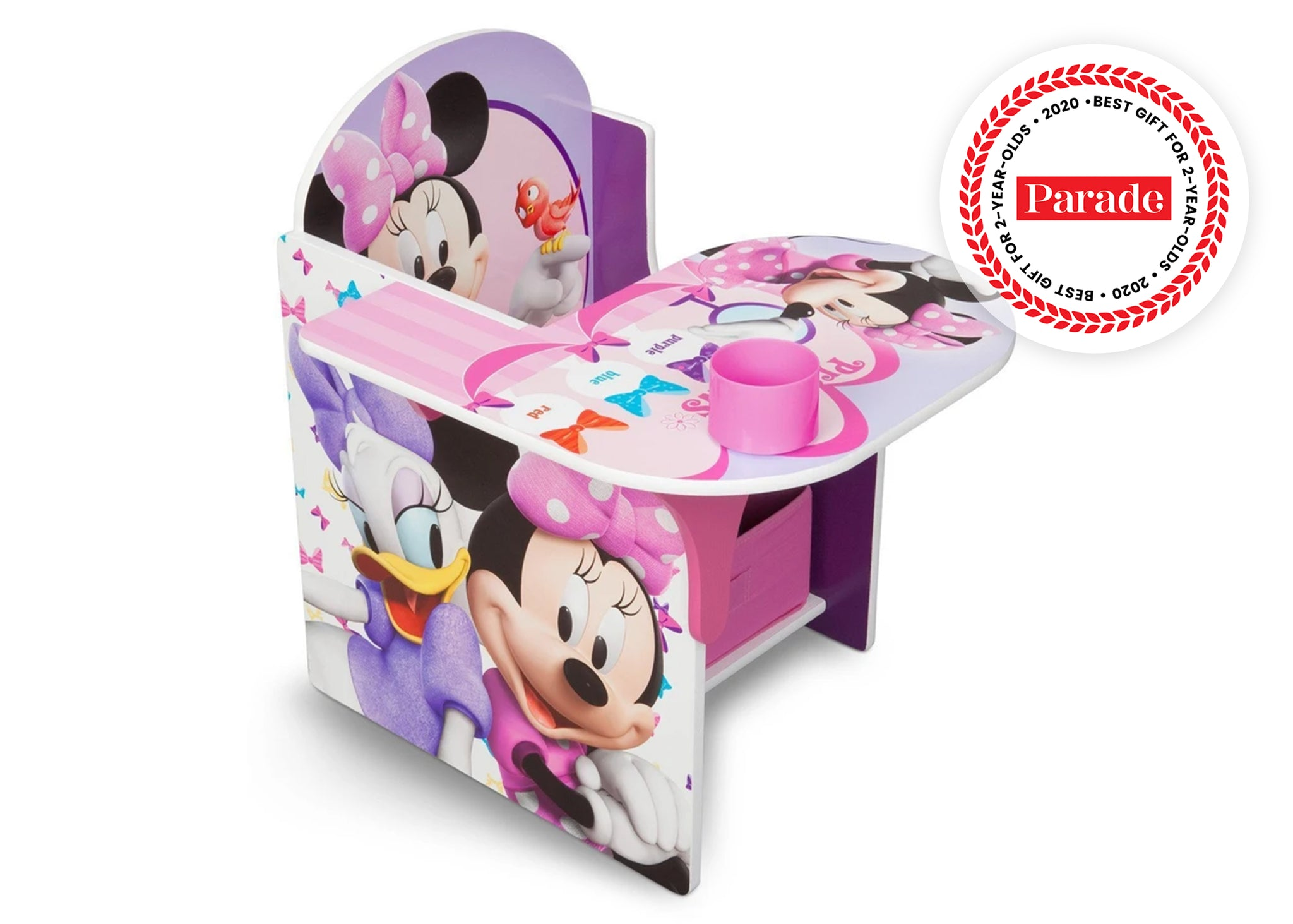 Delta Children Minnie Mouse Chair Desk with Storage Bin Right Side View a1a Minnie Mouse (1058)