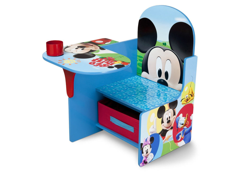Delta Children Mickey Mouse Chair Desk with Storage Bin Left Side View a2a