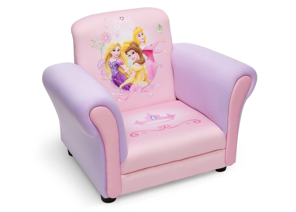 Delta Children Princess Upholstered Chair Right Side View a1a