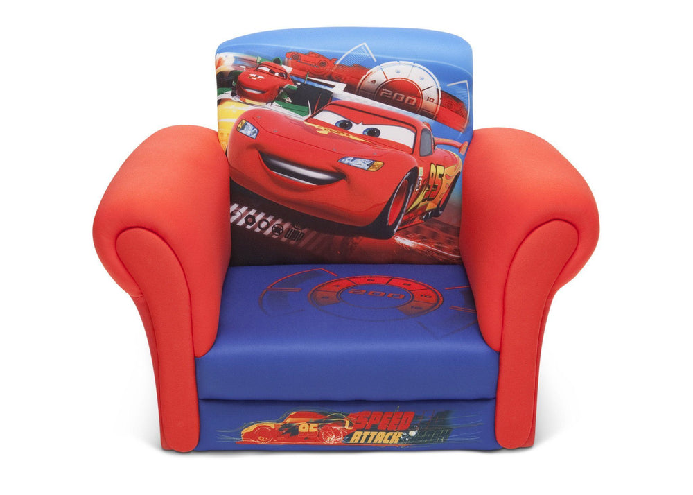 Delta Children Cars Upholstered Chair without Feet Front View
