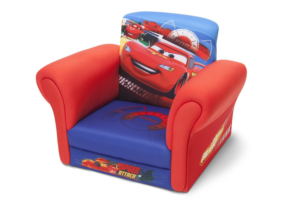 Delta Children Cars Upholstered Chair without Feet Left View a2a