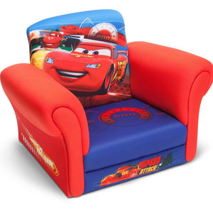 Delta Children Cars Upholstered Chair without Feet Right View a1a