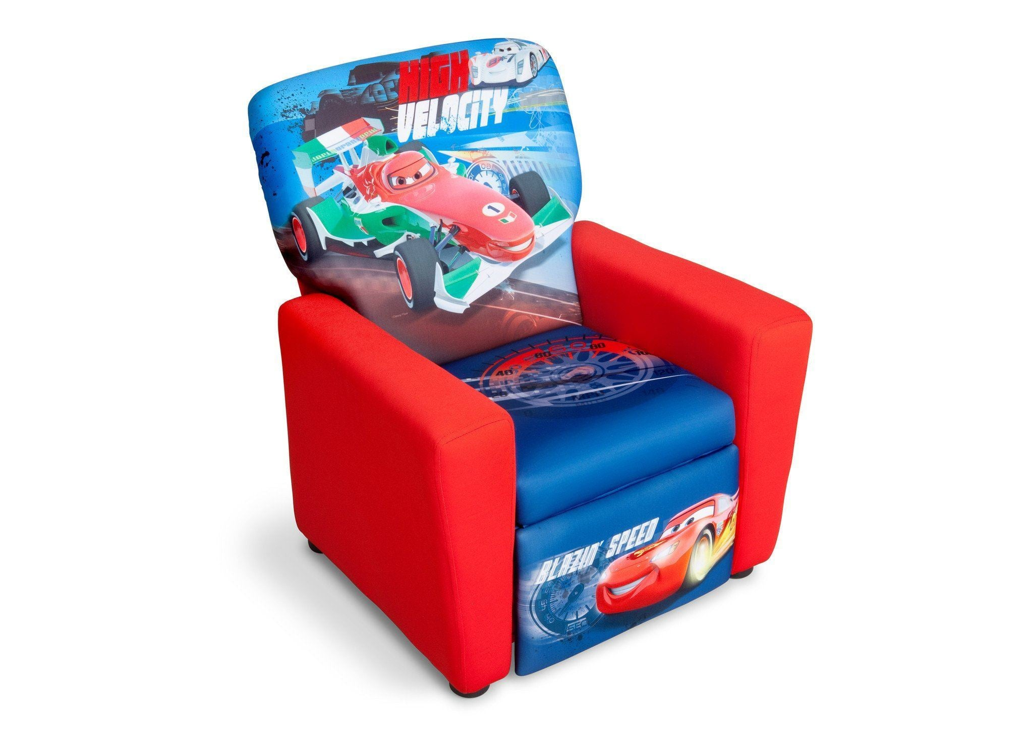 Delta Children Style 1 Cars Upholstered Recliner Chair, Right View A1a ...