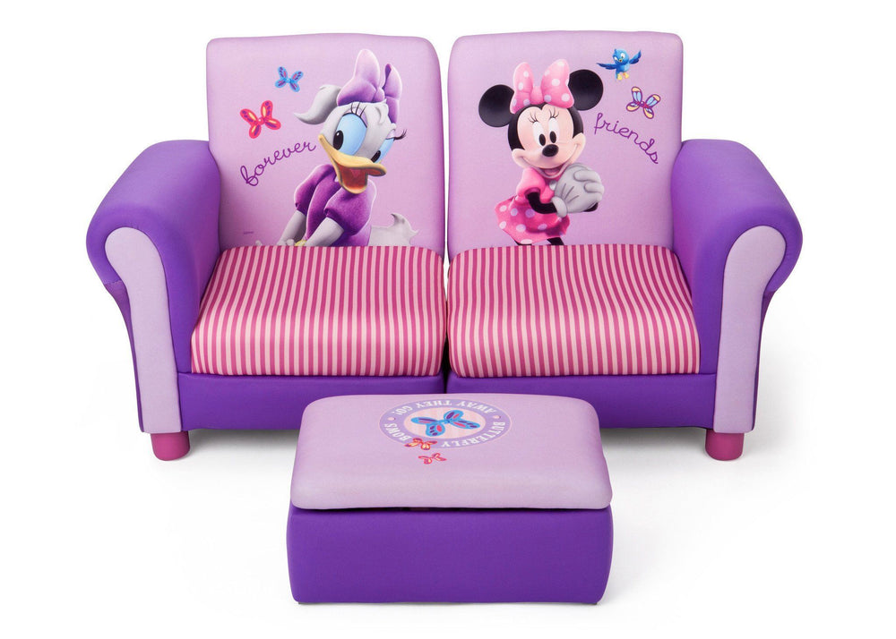 Delta Children Minnie Mouse Upholstered 3 Piece Set Front View