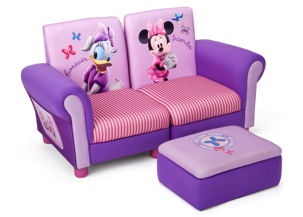 Delta Children Minnie Mouse Upholstered 3 Piece Set Right Side View A1a