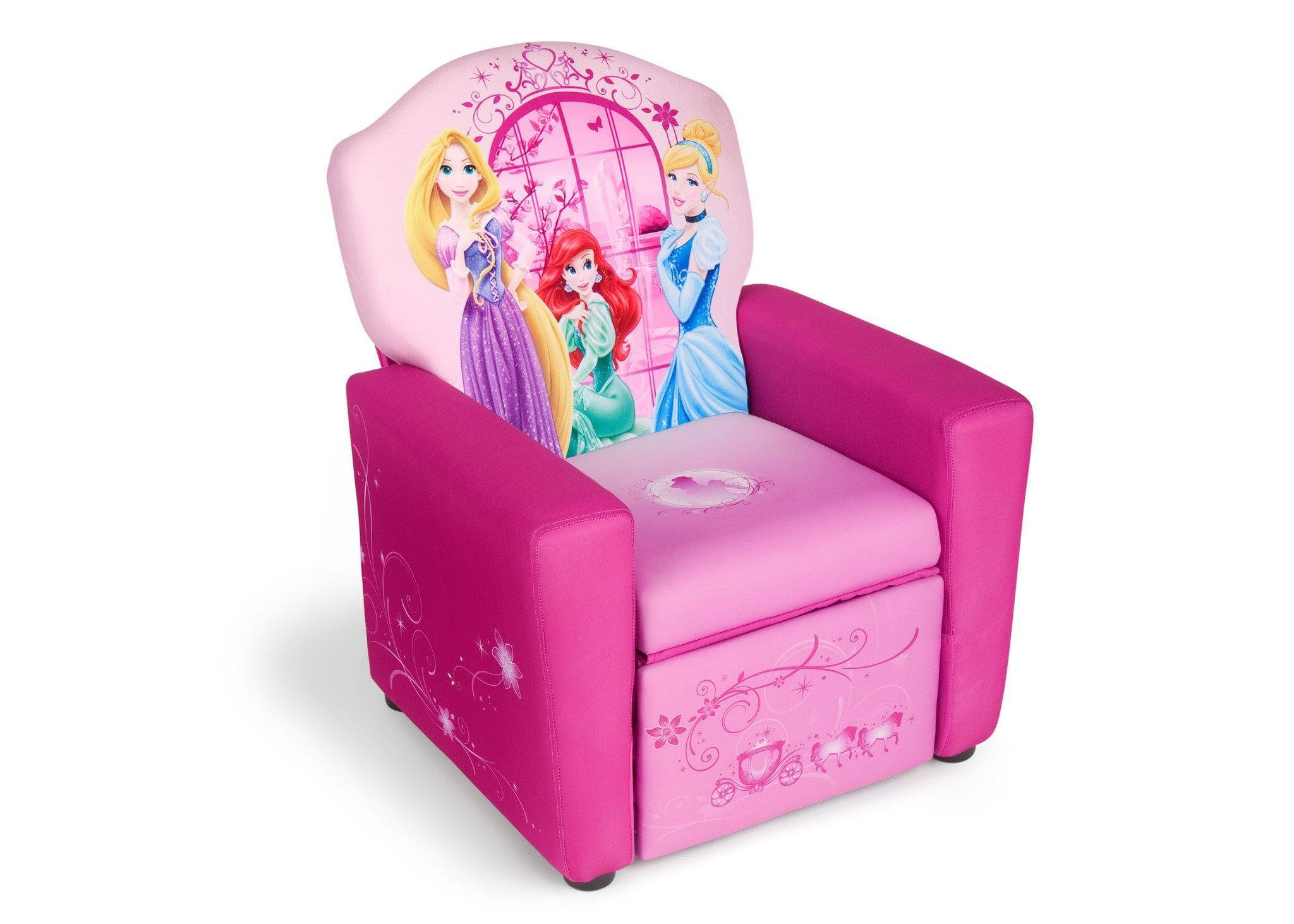 Delta Children Style 1 Princess Upholstered Recliner Chair, Right View A1a  ...
