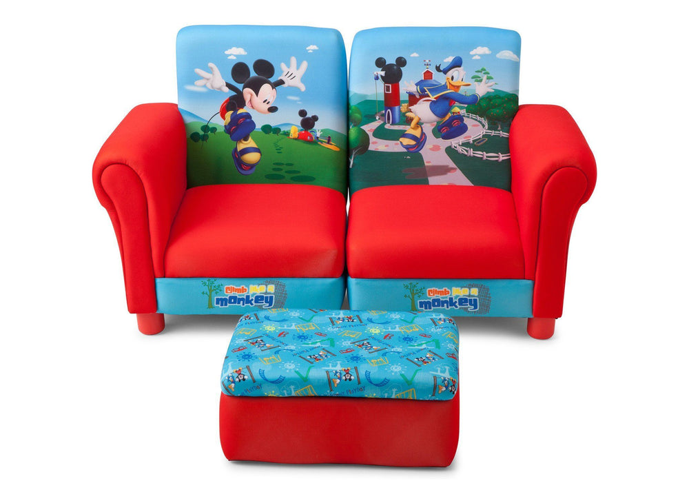 Delta Children Mickey Mouse 3 Piece Upholstered Chair -- EU+US, Front View