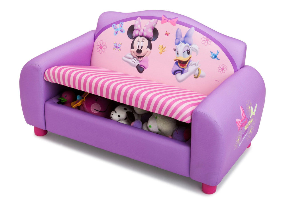 Remarkable Disney Minnie Mouse Sofa With Storage Delta Children Machost Co Dining Chair Design Ideas Machostcouk