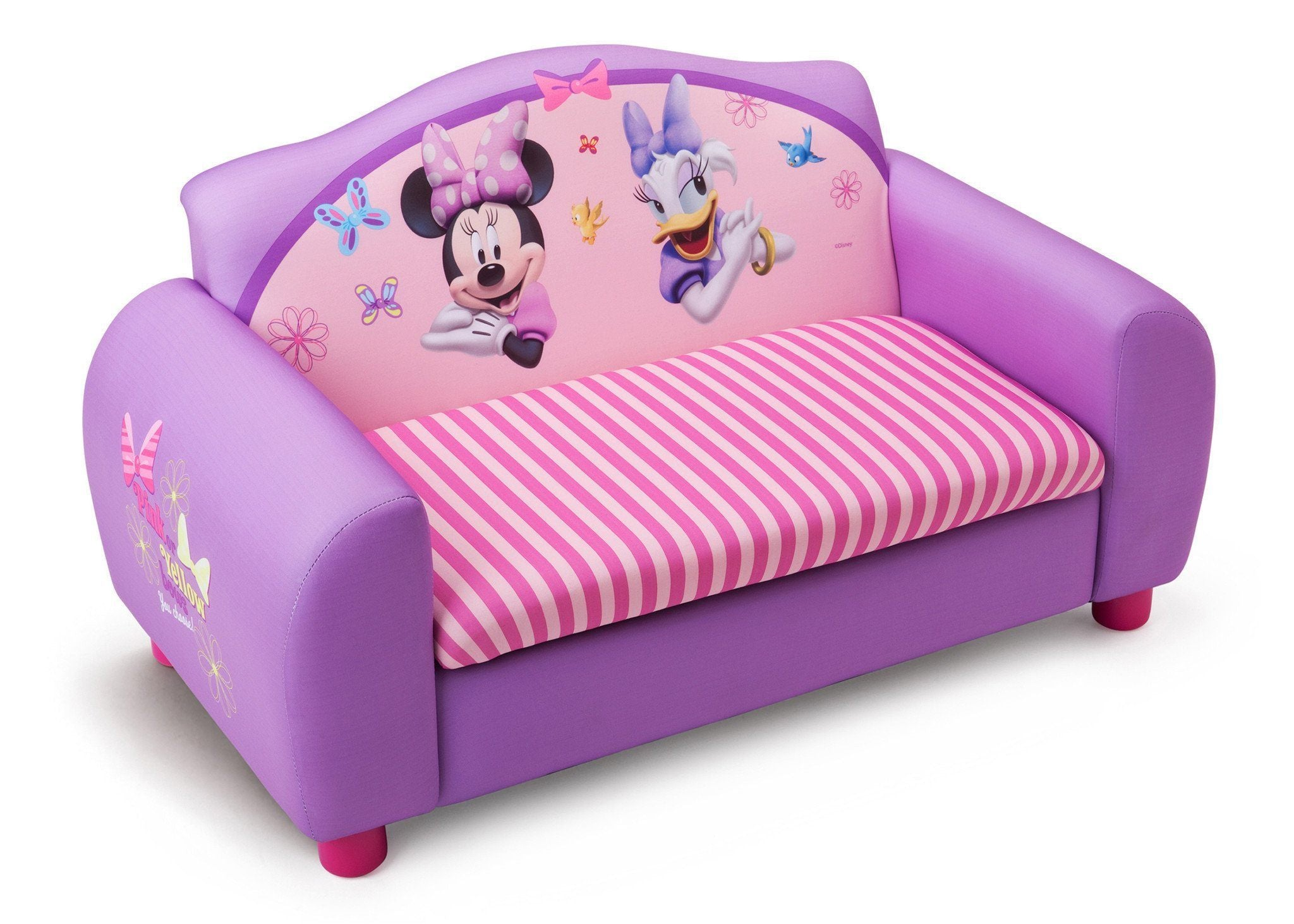 Genial Delta Children Minnie Mouse Upholstered Sofa Right Side View A1a ...