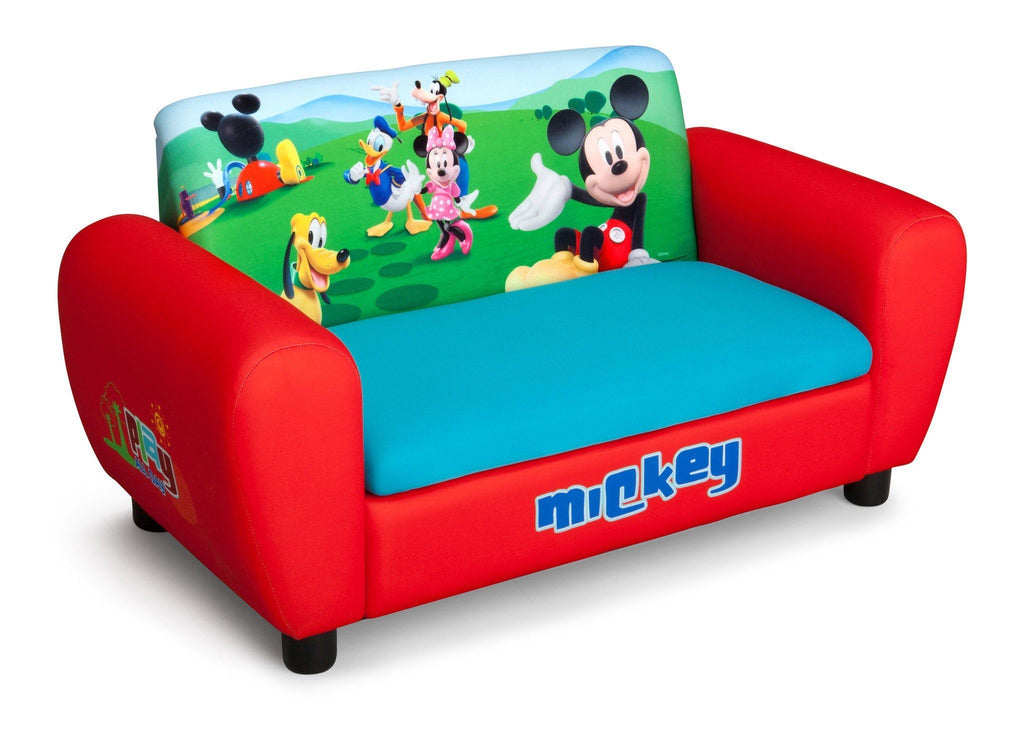 Ordinaire Delta Children Mickey Mouse Upholstered Sofa Right Side View A1a
