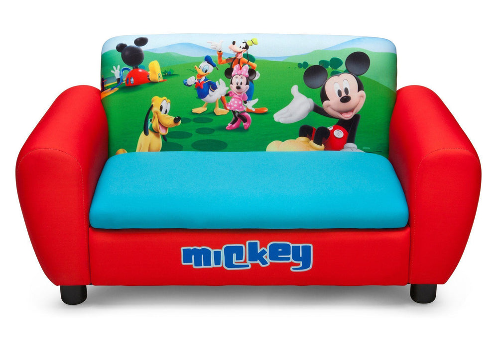 Mickey Mouse Upholstered Sofa With Storage Delta Children