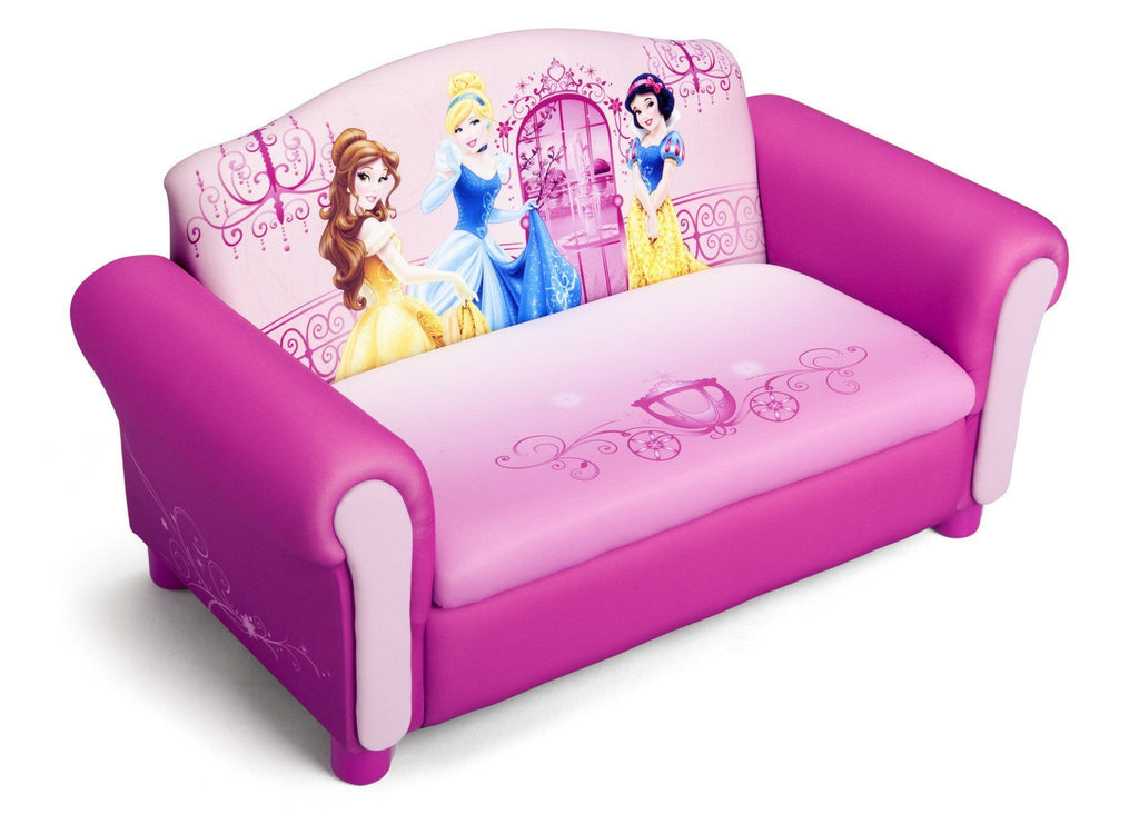 Delta Children Princess Upholstered Sofa With Storage Right Side View A1a