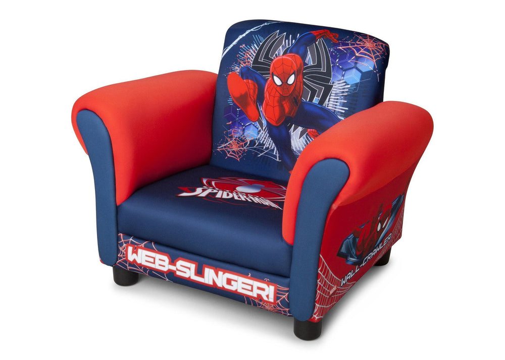 Delta Children Spider-Man Upholstered Chair, Left View a2a